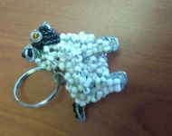 wire and bead sheep