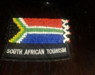 beaded sa tourism badge