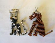 cat & dog keyring