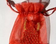 angel in organza bag