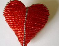 wire and bead heart