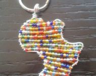 beaded Africa keyring