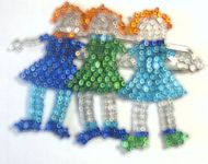 beaded people